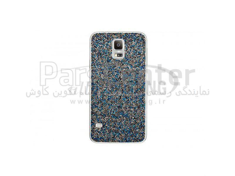 Samsung Swarovski Crystal Battery Cover Galaxy S5 Blue کاور کریستالی آبی گلکسی اس 5 سامسونگ