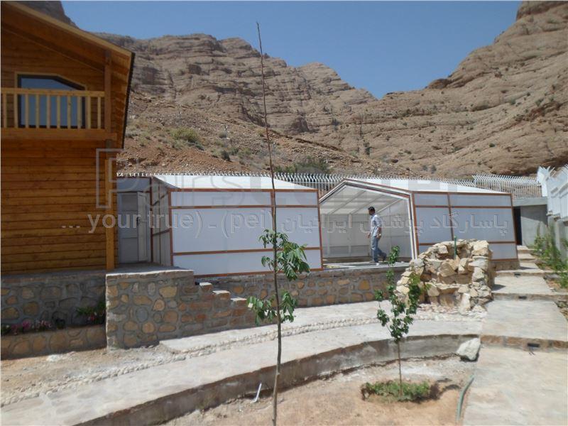 پوشش متحرک تلسکوپی استخر شناء - شیراز - منطقه ویلایی دوکوهک