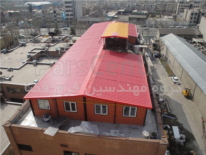 ساختمان پیش ساخته اضافه طبقه روی بام