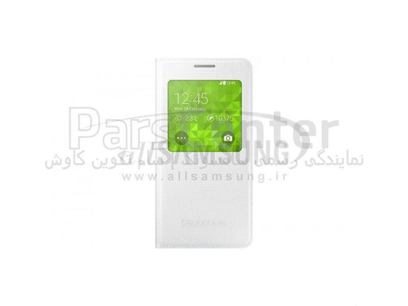 Samsung Galaxy ALPHA S View Cover White اس ویو کاور سفید گلکسی آلفا سامسونگ