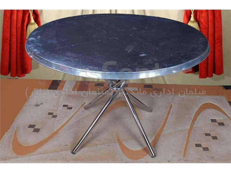 میز گرد فلزی جهت ظروف کرایه و تشریفات مجالس