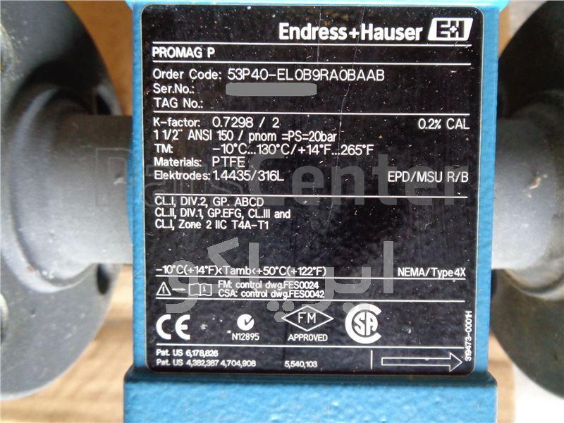 فلومتر Endress Hauser Promag P 53 DN40