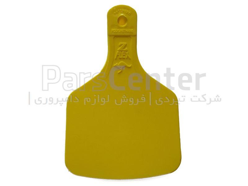 شماره گوش گاو زدفلکس سایز کوچک زرد