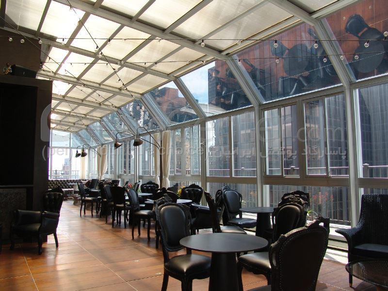 سیستم پوشش سقف متحرک رستوران مدل ال 2 The restaurant El movable roof system