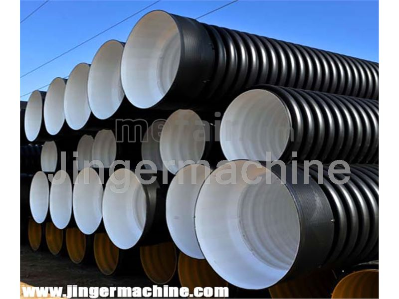 Double wall corrugated polyethylene pipe (200 mm)