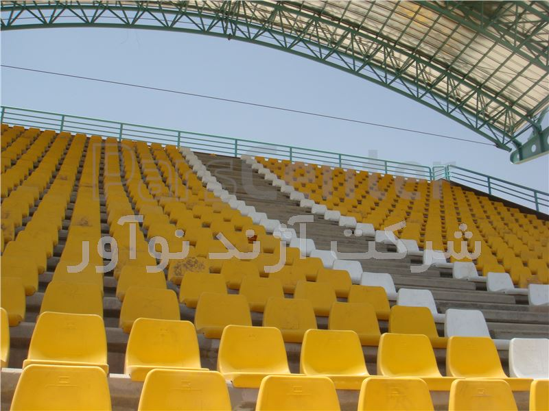 صندلی استادیومی زرد رنگ آژندنوآور 2 پیچ مدل CRA فروش صندلی استادیومی