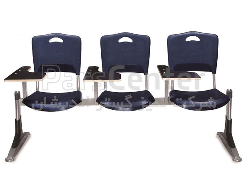 صندلی دانش آموزی دانشجویی چهار نفره فایبرگلاس