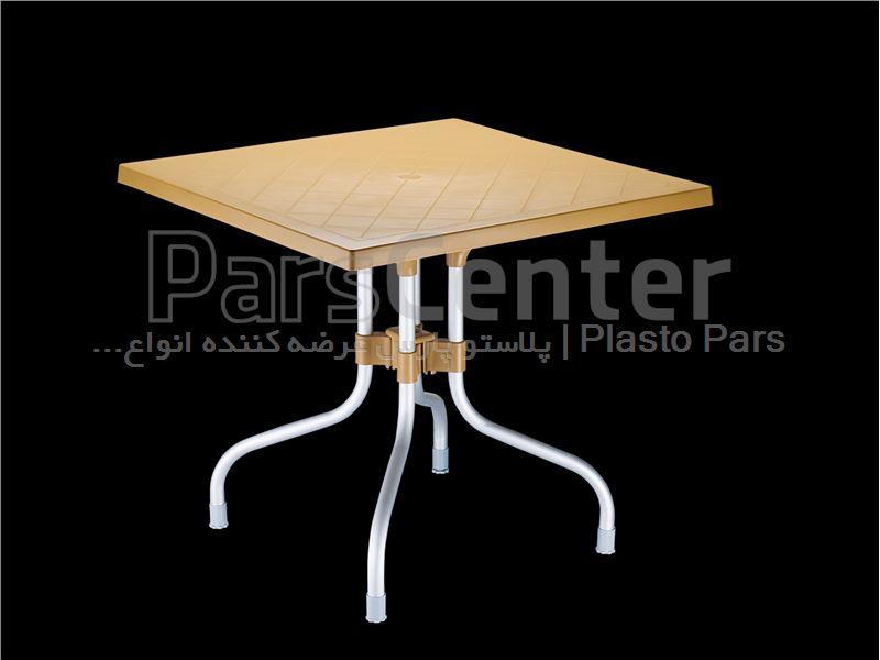 میز مربع تاشو پایه آلومینیومی 4 نفره 80*80-کد101770