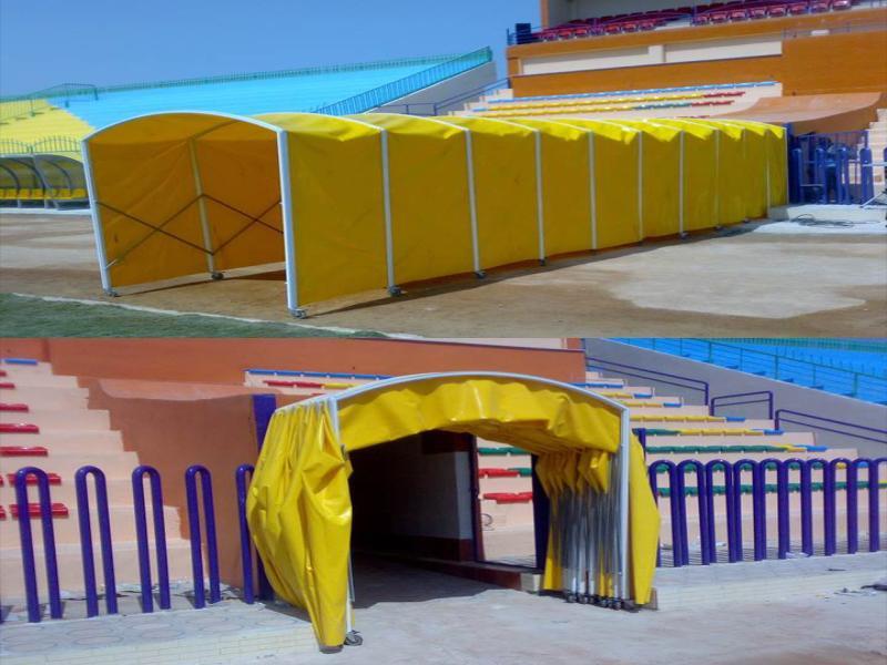تونل ورود و خروج بازیکنان فوتبال آژندنوآور
