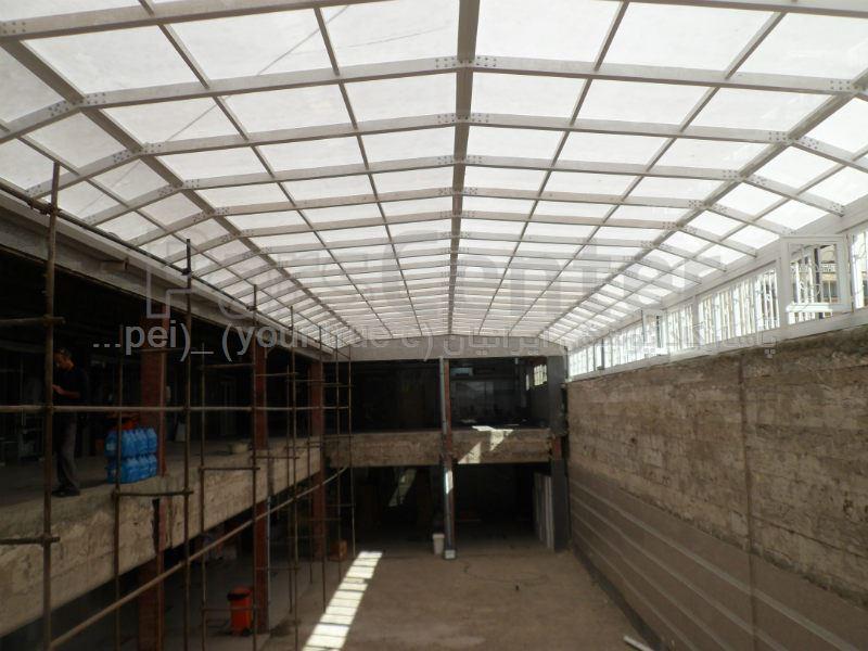 Building skylight_ نورگیر رمپ جنوب شرقی  مجتمع تجاری دندانپزشکی ابریشم - بزرگراه نواب صفوی