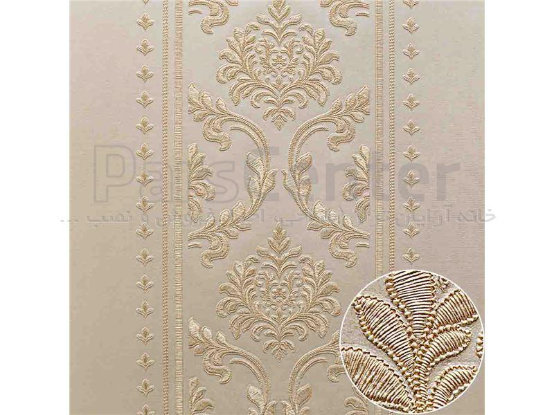 کاغذ دیواری الیافی - اکلیلی - برجسته - براق فرانسیس 14