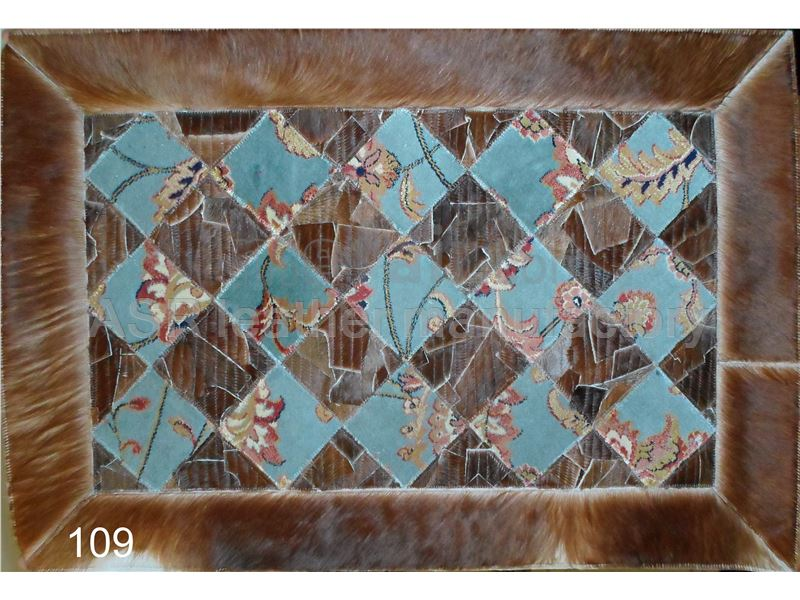 cowhide & carpet rug