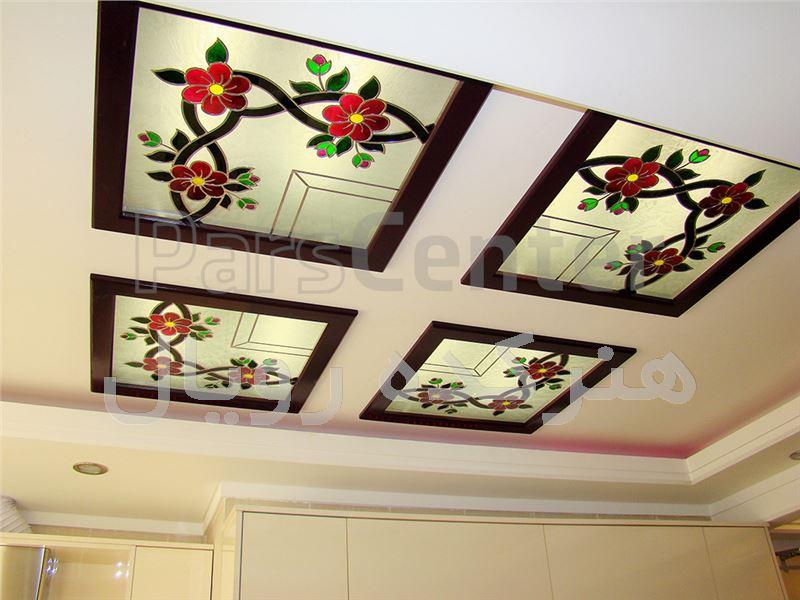 سقف کاذب شیشه ای در آشپزخانه ، پروژه اختیاریه شمالی
