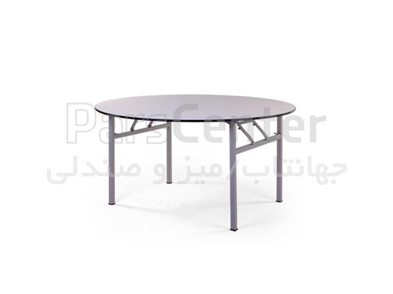 میز فلزی رستورانی مدل F66R پایه جمع شونده (جهانتاب)