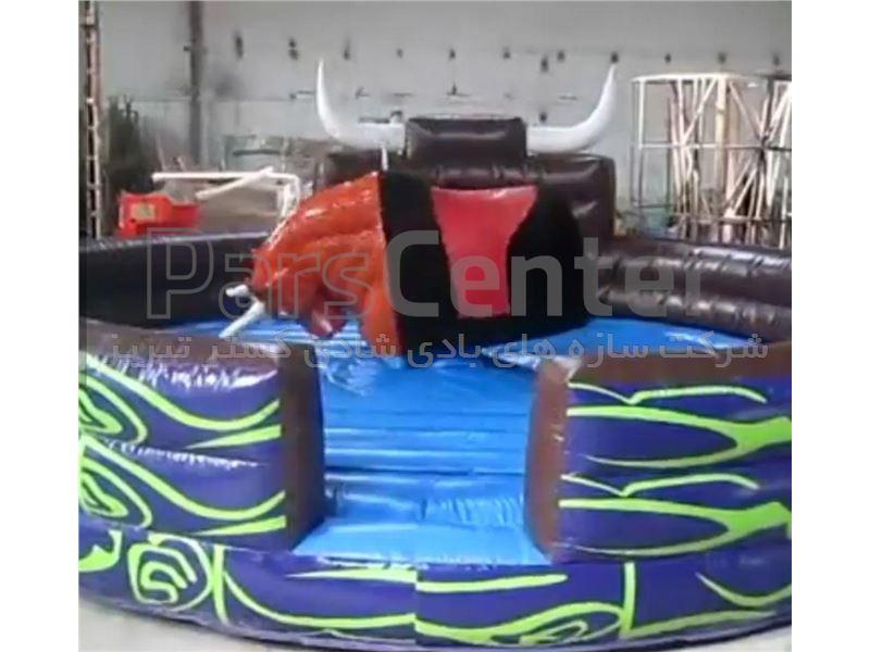 سازه بادی جامپینگ گاو وحشی کودکان و بزرگ سالان کد:124