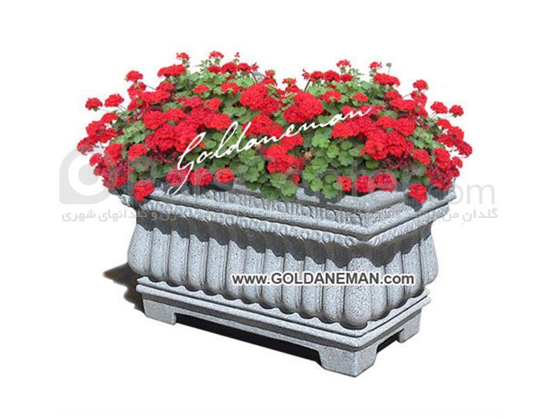 گلدان فایبرگلاس شهری/ کد 2-H114