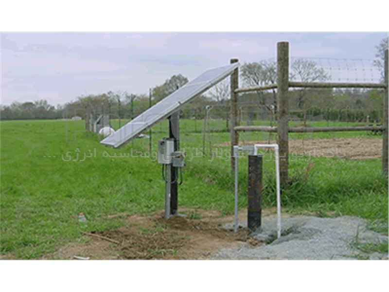 پمپ آب خورشیدی سه فاز(3.7کیلووات 5اسب بخار) 2/5اینچ 53متر عمق آبدهی 8متر مکعب درساعت(همراه پنل)
