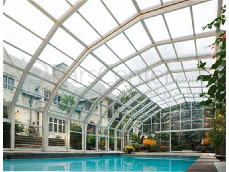 پوشش سقف استخر مدل هلالی