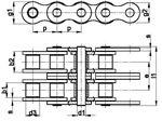 زنجیر غلتکی دو ردیفه سری A امریکایی   SIRCATENE Duplex Roller Chain DIN 8188 American