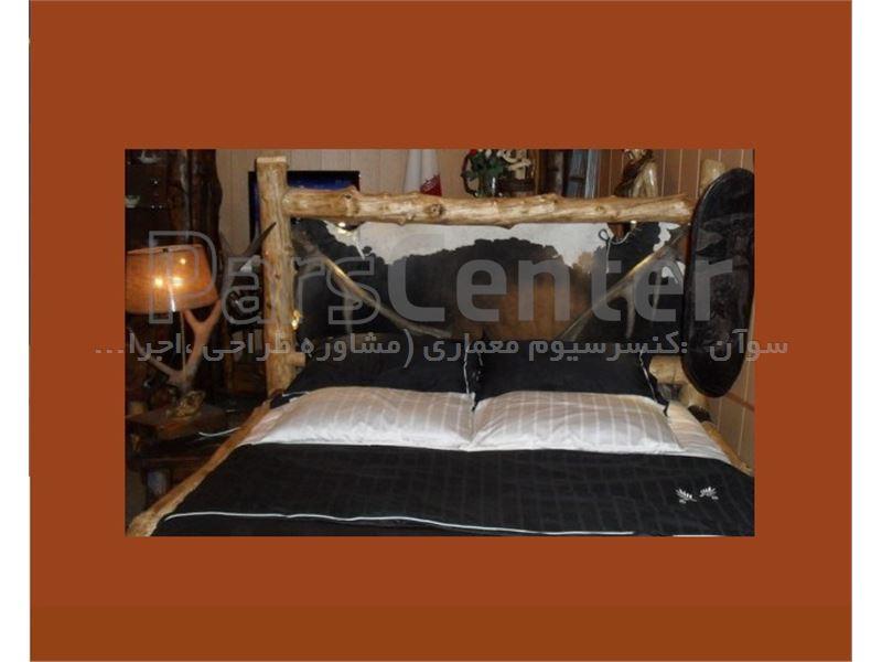 تختخواب چوب طبیعی فانتزی و مدرنhg-120