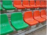 صندلی تماشاگران نارنجی رنگ آژندنوآور