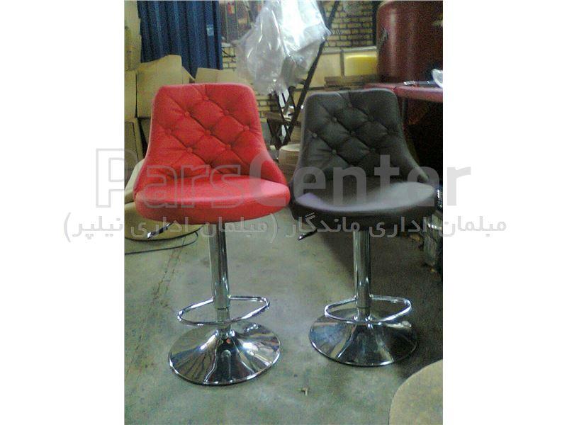 صندلی اوپن کانتر مدل لمسه کف گرد