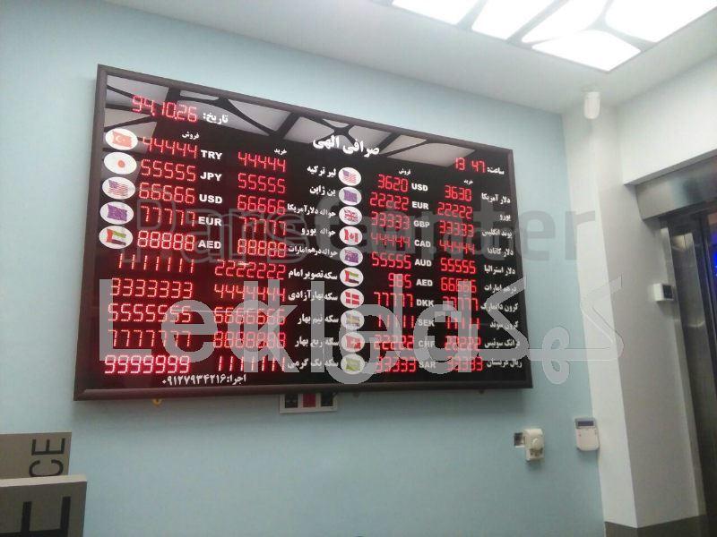 led exchange money rate display