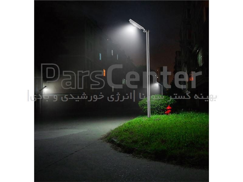 چراغ روشنایی هوشمند پارکی (خیابانی) خورشیدی 7 وات مجهز به سنسور