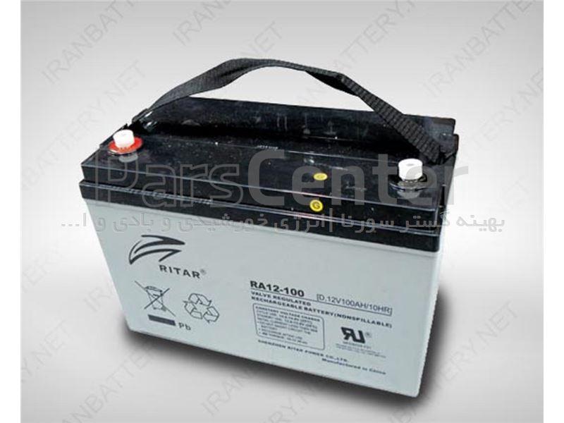 باتری 120 امپری یو پی اسریتار سیلدلیداسیدRittar120