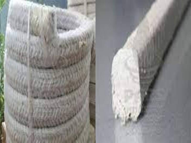 Rectangular asbestos yarn