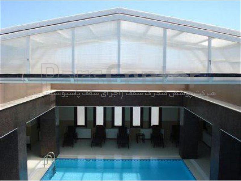 پوشش سقف استخر مدل 6 ضلعی متحرک کد E03