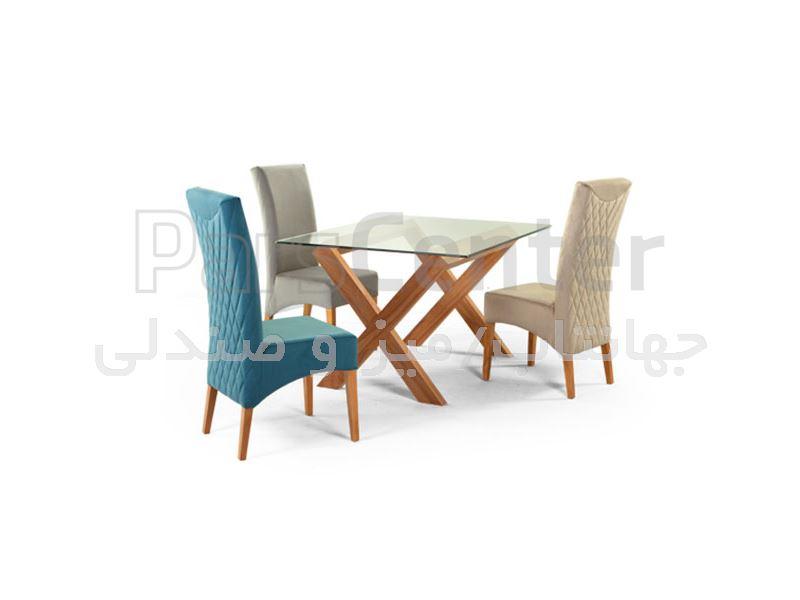 میز ناهارخوری چوبی مدل W16 (جهانتاب)