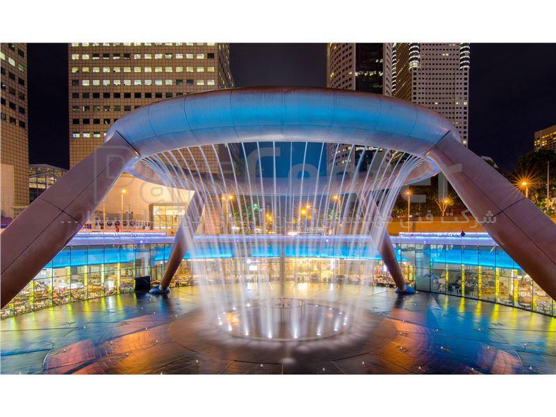 طراحی و اجرای آبنما موزیکال و فواره شهری Fountain