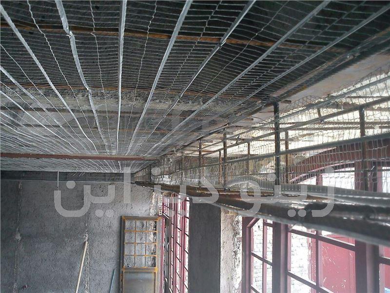 سقف کاذب با رابیتس و اندود