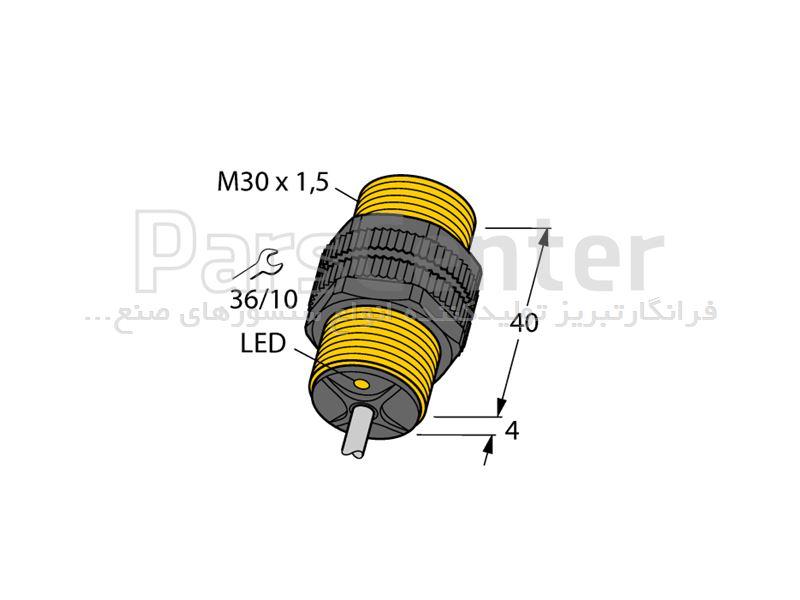 سنسور القایی نامور قطر30   NI15-P30-Y1Xساخت شرکت Turck آلمان