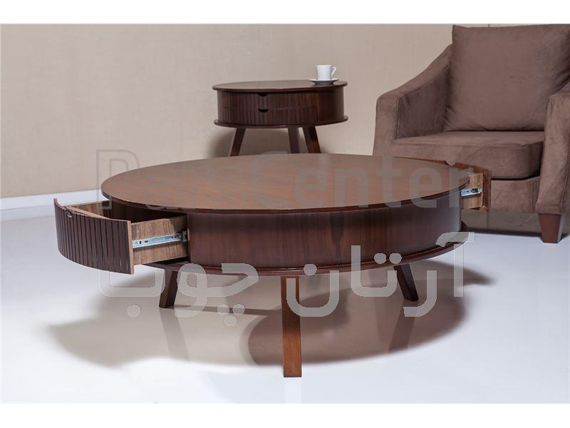 میز جلو مبلی و میز عسلی گرد Centro 1064