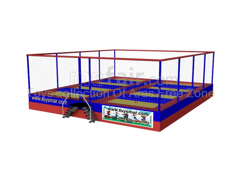 8 bed  Olympic & junior outdoor trampoline