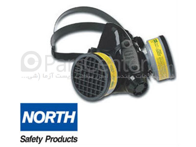 ماسک تنفسی ایمنی نیم صورت شیمیایی سیلیکونی 7700 NORTH با قابلیت استفاده مکرر