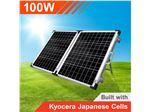 پنل (سلول) خورشیدی100وات قابل حمل (تاشو)  با کنترل شارژر