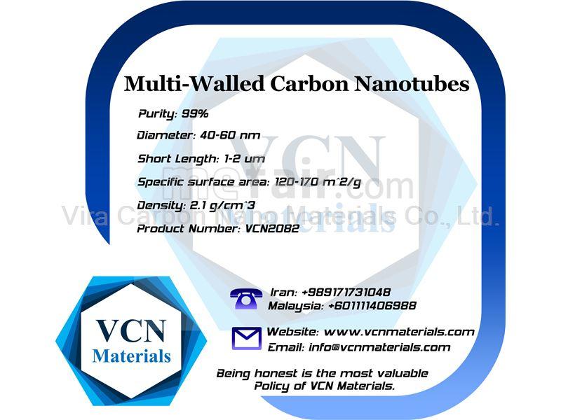 Multi-Walled Carbon Nanotubes (MWNTs, 99%, Diameter 40-60 nm, Short Length 1-2 μm)