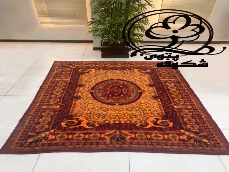 پتو طرح قالیچه شکوفه (یک نفره)
