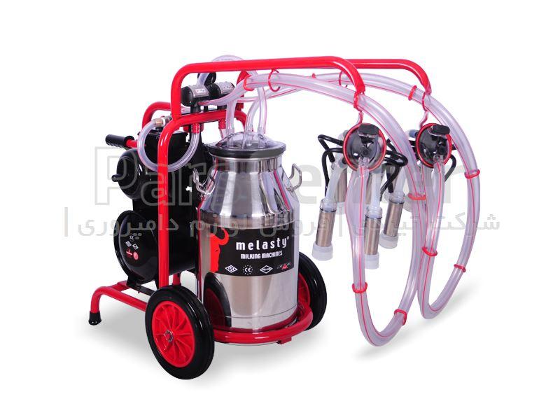 دستگاه شیردوش سیار بز دوش ملاستی - چهار واحد - قرمز