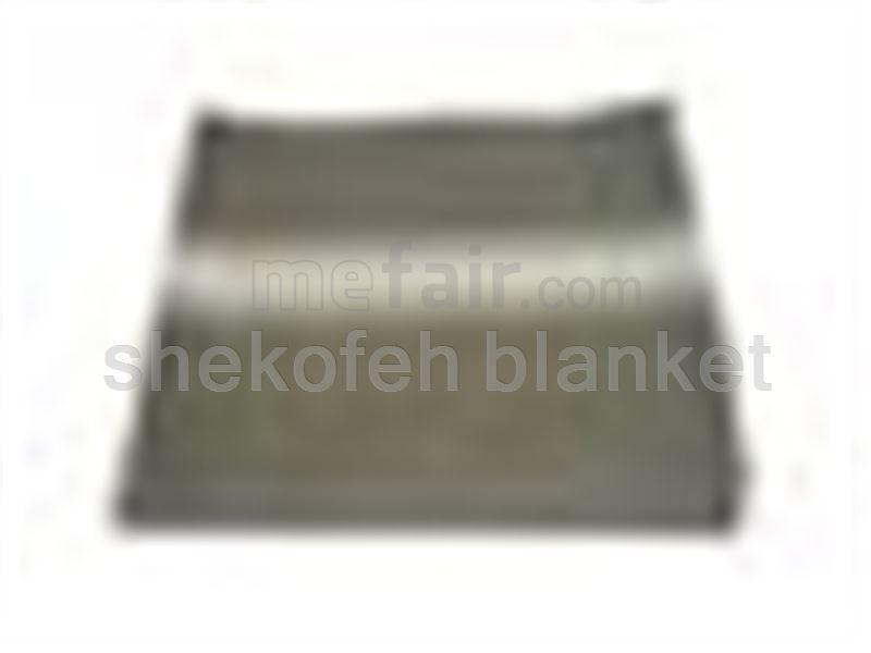 Striped felt blanket