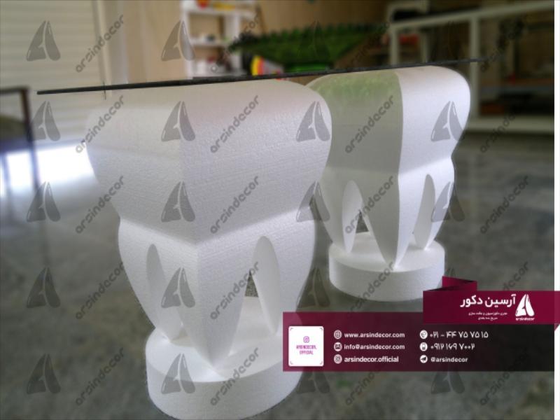 طراحی و ساخت میز با طرح دندان