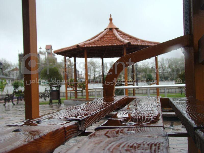 نیمکت چوبی،پارک مادر، شهرستان آمل
