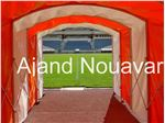 Retracting players exit tunnel Ajand Nouavar
