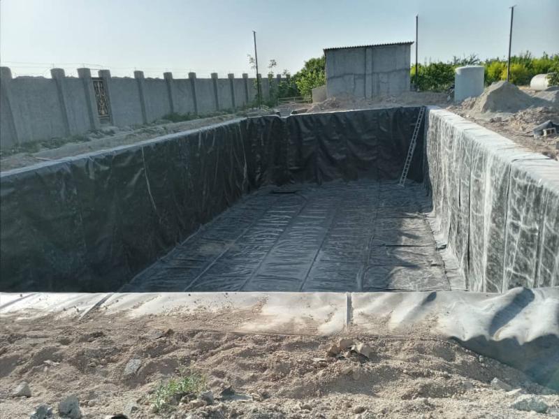 ساخت استخر ذخیره آب کشاورزی - شهریار