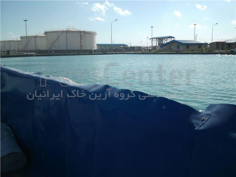 ساخت مخزن ذخیره آب با ورق ژئوممبران، پتروشیمی تهران