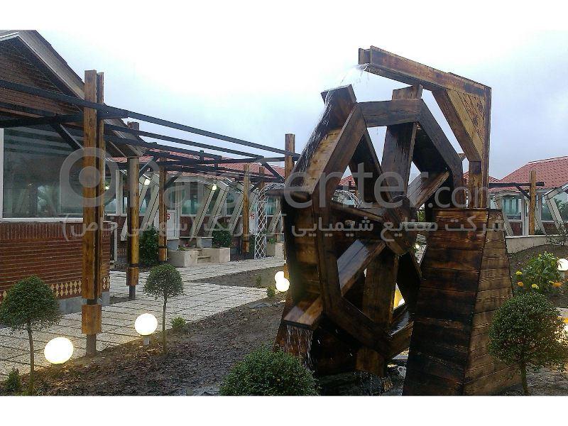 سازه های چوبی ، مجتمع پذیرایی آلاچیق ، شهرستان آمل (مازندران)