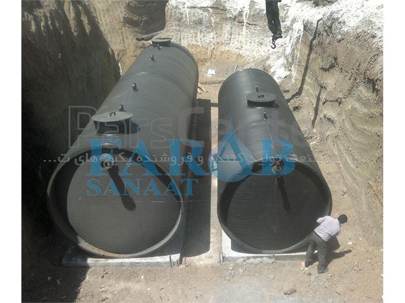 سپتیک تانک پلی اتیلن 25 متر مکعب